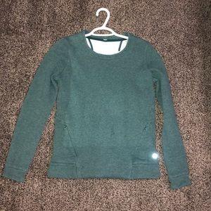 Lululemon green pullover sweatshirt cutout back